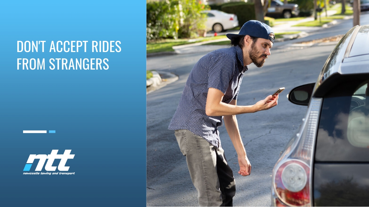dont accept rides from strangers